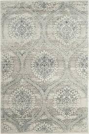 light grey cream area rug and pellot dark gray