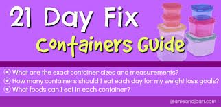 Beachbody Body Measurement Chart 21 Day Fix Container Sizes And Eating Plan Guide In Detail