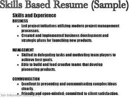 ... Skill Based Resume Template Good Resume Skills Examples