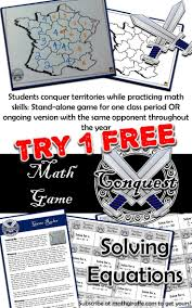 subscribe at mathgiraffe com to get your free conquest game and more solving equationsequation