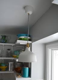 ikea pendant light over sink