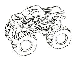 Small Picture Monster Trucks Coloring Pages Max D Monster Truck Coloring Page