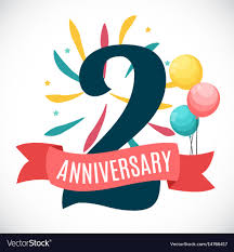 Anniversary Template Anniversary 2 Years Template With Ribbon Vector Image