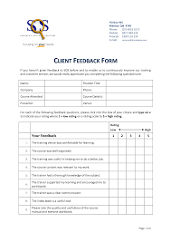 Training Feedback Form For Trainer Sales Plan Template Word Employee ...