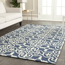 beautiful navy blue area rugs contemporary