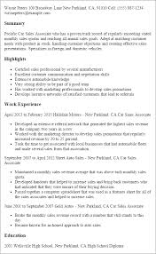 auto sales resume samples automobile sales resume military bralicious co