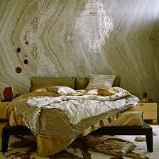 gold bedroom wallpaper uk. bedroom with gold marble-effect wallpaper | how to decorate marble accents photo uk