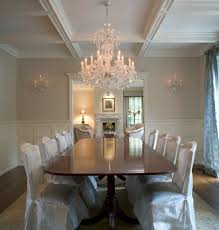 rectangle chandelier dining room traditional with chandelier coffered ceiling crystal chandelier dining table