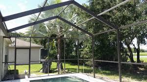 pool cage repair. Brilliant Repair Pool Enclosure Painting Inside Cage Repair