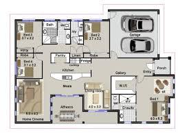 4 bedroom floor plan. 4 Bedroom House Plans Floor Plan N
