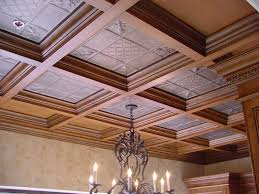 Types Of Ceilings Detailed Insets In This Coffered Ceiling Offer A Wonderful Detail
