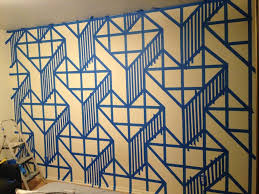 Wall Patterns With Tape Home Design I Painted A Design On My Wall And It Came Out Awesome