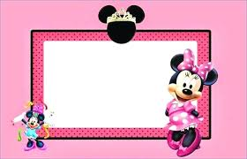 Invitations Card Maker Free Printable Mouse Invitations New Templates Personalised Minnie
