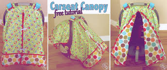 Car Seat Canopy Pattern With Opening