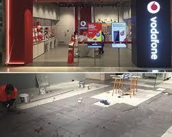 laser guide atr tile leveling vodafone retail before after