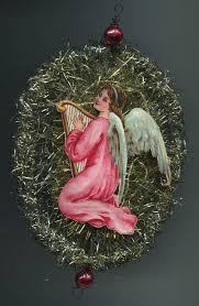 Details Zu Weihnachtsschmuck Christbaumschmuck Tinsel Weihnachtsengel Engel Mit Harfe