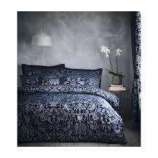 oak tree midnight blue jacqaurd king
