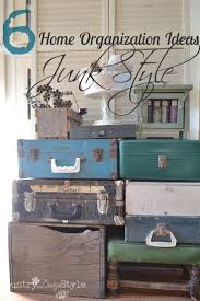 Home Organization Junk Style. Vintage SuitcasesDesign ...