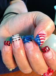 Gel Nail Designs For 4th Of July Fourth Of July Gel Nail Art Gel Nail Art By Ruth Nails In