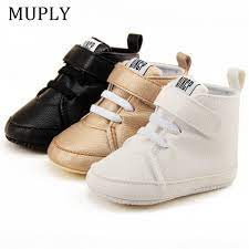 New Arrival Newborn Shoes First Walker Pu Leather Autumn Spring Baby Boys Girls Soft Sole Kids Pu Leather Sneaker For 0 18 Month First Walkers Aliexpress
