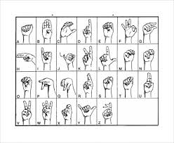Sign Language Chart Printable Sample Sign Language Alphabet Chart 9 Documents In Pdf Word