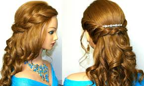 Hairstyle For Long Hairstyle curly prom hairstyle for medium long hair tutorial youtube 3355 by stevesalt.us
