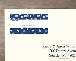 Blue Snowflake Address Label Wedding Address Labels