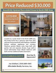 Sample Of Flyer Sample Property Flyer Flat Fee Mls Listing Albuquerque New