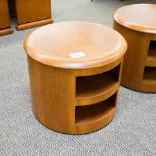 used round end tables with shelf cherry occ9999 777 zoom