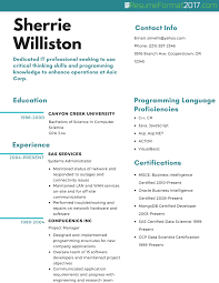 It Resume Format Template Word 2013 For Freshers Free Download