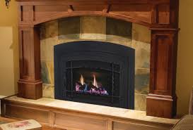 interesting fireplace inserts with tile surround for decorating living room ideas and interior design