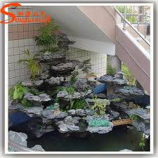 artificial indoor fountains and waterfalls for home mini rockery stone  water curtain homes decoration