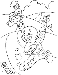 Small Picture Gingerbread Man Coloring Pages for Free Get Coloring Pages