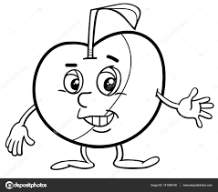 Apple Teken Kleurplaat Stockvector Izakowski 141056150
