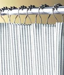 ticking stripe shower curtain ticking stripe curtains attractive ticking stripes shower curtain country curtains intended for ticking stripe shower