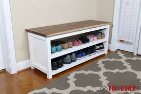 you can get detailed plans for this diy entryway shoe storage bench below if you want to see other cool furniture projects for the home then head over to