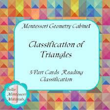 Geometric Cabinet Control Chart Montessori Geometry Cabinet Classification Of Triangles