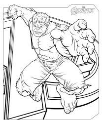 Small Picture The Avengers Coloring Pages Free The Avengers Hulk Coloring
