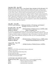 Student Nurse Resume Objective Medical Or Surgical Nurse Resume Med ...