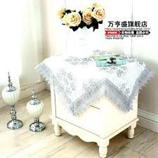 round side table cloth small square tablecloth bedside table cloth side soluble washing machine cover towel