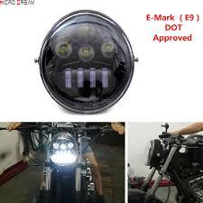 Dot Approved Motorcycle Lights Us 69 61 6 Off E Mark Approved Motorcycle Led Headlights Head Lamp For Harley V Rod Street Rod Vrsc Vrsca Vrscx Vrxse 1984 2017 On