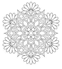 Download Easy Mandala Coloring Pages Printable Getwallpapersus