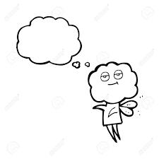 フリーハンド描画思想バブル漫画かわいい雲頭 Imp