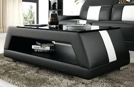 white leather coffee table contemporary black and white leather coffee table w glass inside designs white leather storage ottoman coffee table
