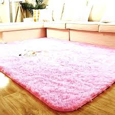 pink fluffy rug rugs for bedroom new area big white circle flu