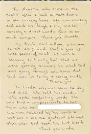 Read Beautiful Thank You Note Written By Daughter Of