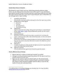 executive report templates sample example formatreport sample expert report template government politics