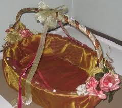 gift decoration ideas wring basket indian wedding