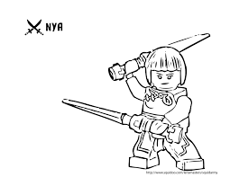 Small Picture LEGO Ninjago Nya Coloring Pages Teacher Pinterest Lego