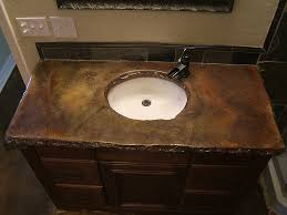 ideas for concrete bathroom countertops